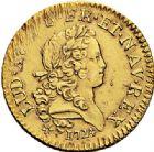 Photo numismatique  VENTE 7 juin 2017 - Coll Fr. Beau et divers ATELIER DE CAEN LOUIS XV (1er septembre 1715-10 mai 1774)  377 Louis d'or dit «mirliton» aux grandes palmes, 1724 C.