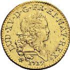 Photo numismatique  VENTE 7 juin 2017 - Coll Fr. Beau et divers ATELIER DE CAEN LOUIS XV (1er septembre 1715-10 mai 1774)  378 Louis d'or dit «mirliton» aux grandes palmes, 1725 C.