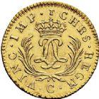 Photo numismatique  ARCHIVES VENTE 2017-7 juin - Coll Fr. Beau ATELIER DE CAEN LOUIS XV (1er septembre 1715-10 mai 1774)  378 Louis d'or dit «mirliton» aux grandes palmes, 1725 C.