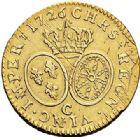 Photo numismatique  ARCHIVES VENTE 2017-7 juin - Coll Fr. Beau ATELIER DE CAEN LOUIS XV (1er septembre 1715-10 mai 1774)  379 Louis d'or aux lunettes, 1726 C.