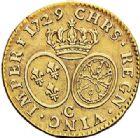 Photo numismatique  ARCHIVES VENTE 2017-7 juin - Coll Fr. Beau ATELIER DE CAEN LOUIS XV (1er septembre 1715-10 mai 1774)  381 Louis d'or aux lunettes, 1729 C.