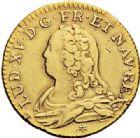 Photo numismatique  VENTE 7 juin 2017 - Coll Fr. Beau et divers ATELIER DE CAEN LOUIS XV (1er septembre 1715-10 mai 1774)  382 Louis d'or aux lunettes, 1733 C.