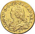 Photo numismatique  ARCHIVES VENTE 2017-7 juin - Coll Fr. Beau ATELIER DE CAEN LOUIS XV (1er septembre 1715-10 mai 1774)  384 Louis d'or aux lunettes, 1735 C.