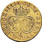 Photo numismatique  ARCHIVES VENTE 2017-7 juin - Coll Fr. Beau ATELIER DE CAEN LOUIS XV (1er septembre 1715-10 mai 1774)  385 Louis d'or aux lunettes, 1736 C.