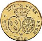 Photo numismatique  VENTE 7 juin 2017 - Coll Fr. Beau et divers ROYALES FRANCAISES LOUIS XVI (10 mai 1774–21 janvier 1793)  465 Double louis d'or au buste habillé, Lille 1777.