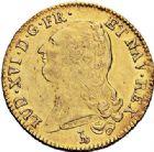 Photo numismatique  ARCHIVES VENTE 2017-7 juin - Coll Fr. Beau ROYALES FRANCAISES LOUIS XVI (10 mai 1774–21 janvier 1793)  466 Double louis d'or à la tête nue, Nantes 1786.