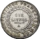 Photo numismatique  VENTE 7 juin 2017 - Coll Fr. Beau et divers MODERNES FRANÇAISES LA CONVENTION (22 septembre 1792 - 26 octobre 1795)  468- Écu de six livres, Paris 1793 an II.
