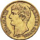 Photo numismatique  VENTE 7 juin 2017 - Coll Fr. Beau et divers MODERNES FRANÇAISES BONAPARTE, 1er consul (24 décembre 1799-18 mai 1804)  469 40 francs or, Paris an XI.