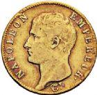 Photo numismatique  VENTE 7 juin 2017 - Coll Fr. Beau et divers MODERNES FRANÇAISES NAPOLEON Ier, empereur (18 mai 1804- 6 avril 1814)  474- 20 francs or, Paris 1806.
