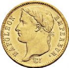 Photo numismatique  ARCHIVES VENTE 2017-7 juin - Coll Fr. Beau MODERNES FRANÇAISES NAPOLEON Ier, empereur (18 mai 1804- 6 avril 1814)  475- 20 francs or, Paris 1808.