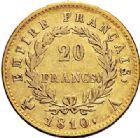 Photo numismatique  ARCHIVES VENTE 2017-7 juin - Coll Fr. Beau MODERNES FRANÇAISES NAPOLEON Ier, empereur (18 mai 1804- 6 avril 1814)  476- 20 francs or, Paris 1810.