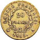 Photo numismatique  ARCHIVES VENTE 2017-7 juin - Coll Fr. Beau MODERNES FRANÇAISES NAPOLEON Ier, empereur (18 mai 1804- 6 avril 1814)  477- 20 francs or, Paris 1813.