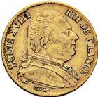 Photo numismatique  ARCHIVES VENTE 2017-7 juin - Coll Fr. Beau MODERNES FRANÇAISES LOUIS XVIII, 1ère restauration (3 mai 1814-20 mars 1815)  479- 20 francs or, Paris 1814.