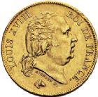 Photo numismatique  ARCHIVES VENTE 2017-7 juin - Coll Fr. Beau MODERNES FRANÇAISES LOUIS XVIII, 2e restauration (8 juillet 1815-16 septembre 1824)  481- 40 francs or, Bayonne 1816.