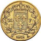 Photo numismatique  ARCHIVES VENTE 2017-7 juin - Coll Fr. Beau MODERNES FRANÇAISES LOUIS XVIII, 2e restauration (8 juillet 1815-16 septembre 1824)  482- 20 francs or, Paris 1819.