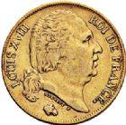 Photo numismatique  ARCHIVES VENTE 2017-7 juin - Coll Fr. Beau MODERNES FRANÇAISES LOUIS XVIII, 2e restauration (8 juillet 1815-16 septembre 1824)  483- 20 francs or, Paris 1824.