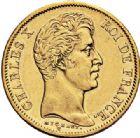 Photo numismatique  VENTE 7 juin 2017 - Coll Fr. Beau et divers MODERNES FRANÇAISES CHARLES X (16 septembre 1824-2 août 1830)  484- 40 francs or, Paris 1828.
