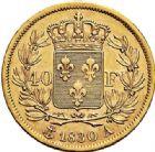 Photo numismatique  VENTE 7 juin 2017 - Coll Fr. Beau et divers MODERNES FRANÇAISES CHARLES X (16 septembre 1824-2 août 1830)  485- 40 francs or, Paris 1830.