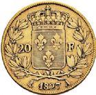 Photo numismatique  ARCHIVES VENTE 2017-7 juin - Coll Fr. Beau MODERNES FRANÇAISES CHARLES X (16 septembre 1824-2 août 1830)  486- 20 francs or, Paris 1827.