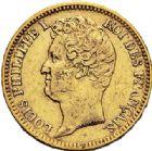Photo numismatique  ARCHIVES VENTE 2017-7 juin - Coll Fr. Beau MODERNES FRANÇAISES LOUIS-PHILIPPE Ier (9 août 1830-24 février 1848)  488- 20 francs or, Paris 1831.