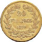 Photo numismatique  ARCHIVES VENTE 2017-7 juin - Coll Fr. Beau MODERNES FRANÇAISES LOUIS-PHILIPPE Ier (9 août 1830-24 février 1848)  489- 20 francs or, Paris 1839.