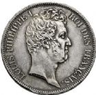 Photo numismatique  VENTE 7 juin 2017 - Coll Fr. Beau et divers MODERNES FRANÇAISES LOUIS-PHILIPPE Ier (9 août 1830-24 février 1848)  491- 5 francs, Paris 1831.