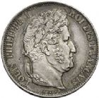 Photo numismatique  VENTE 7 juin 2017 - Coll Fr. Beau et divers MODERNES FRANÇAISES LOUIS-PHILIPPE Ier (9 août 1830-24 février 1848)  492- 5 francs, Paris 1848.