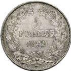 Photo numismatique  ARCHIVES VENTE 2017-7 juin - Coll Fr. Beau MODERNES FRANÇAISES LOUIS-PHILIPPE Ier (9 août 1830-24 février 1848)  492- 5 francs, Paris 1848.