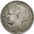 Photo numismatique  VENTE 7 juin 2017 - Coll Fr. Beau et divers MODERNES FRANÇAISES 2e REPUBLIQUE (24 février 1848-2 décembre 1852)  494- 5 francs, Paris, 1850.