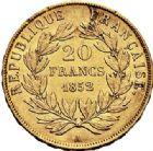 Photo numismatique  VENTE 7 juin 2017 - Coll Fr. Beau et divers MODERNES FRANÇAISES LOUIS-NAPOLEON BONAPARTE Prince-Président (2 décembre 1851-2 décembre 1852)  496- 20 francs or, Paris 1852.