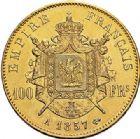 Photo numismatique  VENTE 7 juin 2017 - Coll Fr. Beau et divers MODERNES FRANÇAISES NAPOLEON III, empereur (2 décembre 1852-1er septembre 1870)  497- 100 francs or, Paris 1857.