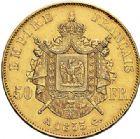 Photo numismatique  ARCHIVES VENTE 2017-7 juin - Coll Fr. Beau MODERNES FRANÇAISES NAPOLEON III, empereur (2 décembre 1852-1er septembre 1870)  499 50 francs or, Paris 1855.