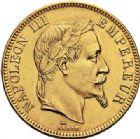 Photo numismatique  VENTE 7 juin 2017 - Coll Fr. Beau et divers MODERNES FRANÇAISES NAPOLEON III, empereur (2 décembre 1852-1er septembre 1870)  503 100 francs or, Paris 1866.