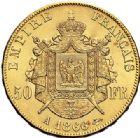 Photo numismatique  VENTE 7 juin 2017 - Coll Fr. Beau et divers MODERNES FRANÇAISES NAPOLEON III, empereur (2 décembre 1852-1er septembre 1870)  504 50 francs or, Paris 1866.