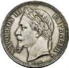 Photo numismatique  ARCHIVES VENTE 2017-7 juin - Coll Fr. Beau MODERNES FRANÇAISES NAPOLEON III et 3e REPUBLIQUE  507- Lot  de 4 monnaies de 5 francs.