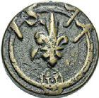 Photo numismatique  ARCHIVES VENTE 2017-7 juin - Coll Fr. Beau BARONNIALES - POIDS de VILLE MONTAUBAN (Tarn-et-Garonne)  512- Poids d'un quart de livre, émission de 1577 ou (71).