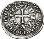 Photo numismatique  VENTE 7 juin 2017 - Coll Fr. Beau et divers BARONNIALES - POIDS de VILLE Duché d'AQUITAINE EDOUARD III (1327-1362) 515- Gros au châtel crénelé et au portail.