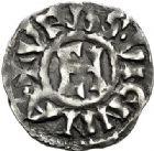 Photo numismatique  ARCHIVES VENTE 2017-7 juin - Coll Fr. Beau BARONNIALES - POIDS de VILLE Archevêché de VIENNE HENRI LE NOIR Roi de Bourgogne (1038-1056) 518- Denier.