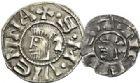 Photo numismatique  ARCHIVES VENTE 2017-7 juin - Coll Fr. Beau BARONNIALES - POIDS de VILLE Archevêché de VIENNE ANONYMES (vers 1150-1200) 519- Denier et obole.