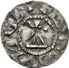 Photo numismatique  ARCHIVES VENTE 2017-7 juin - Coll Fr. Beau BARONNIALES - POIDS de VILLE Comté de LYON CONRAD, roi de Bourgogne (937-979) 521- Denier.