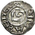 Photo numismatique  ARCHIVES VENTE 2017-7 juin - Coll Fr. Beau BARONNIALES - POIDS de VILLE Archevêché de LYON  524- (Première moitié du XIIe siècle). Denier.