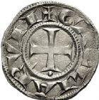 Photo numismatique  ARCHIVES VENTE 2017-7 juin - Coll Fr. Beau BARONNIALES - POIDS de VILLE Archevêché de LYON  526- (Vers 1200-1260). Denier.