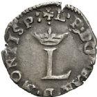Photo numismatique  ARCHIVES VENTE 2017-7 juin - Coll Fr. Beau BARONNIALES - POIDS de VILLE Principauté des DOMBES  529- Liard de Louis II et Doubles tournois de Gaston.