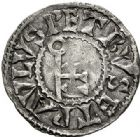 Photo numismatique  VENTE 7 juin 2017 - Coll Fr. Beau et divers BARONNIALES - POIDS de VILLE Abbaye de CLUNY  535-  (XIIe siècle). Denier.