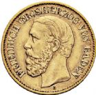 Photo numismatique  ARCHIVES VENTE 2017-7 juin - Coll Fr. Beau MONNAIES DU MONDE ALLEMAGNE BADE, Frédéric Ier (1852-1907) 539- 10 marks, 1876 G.