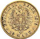 Photo numismatique  VENTE 7 juin 2017 - Coll Fr. Beau et divers MONNAIES DU MONDE ALLEMAGNE BADE, Frédéric Ier (1852-1907) 539- 10 marks, 1876 G.