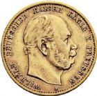 Photo numismatique  ARCHIVES VENTE 2017-7 juin - Coll Fr. Beau MONNAIES DU MONDE ALLEMAGNE PRUSSE, Guillaume 1er (1861-1888) 541- 10 marks 1880 A.