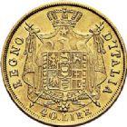 Photo numismatique  ARCHIVES VENTE 2017-7 juin - Coll Fr. Beau MONNAIES DU MONDE ITALIE NAPOLEON Ier Roi d'Italie (1805-1814) 543- 40 lire or, Milan 1814.