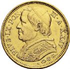 Photo numismatique  ARCHIVES VENTE 2017-7 juin - Coll Fr. Beau MONNAIES DU MONDE ITALIE SAINT-SIEGE, Pie IX (1846-1878) 544- 20 lire, Rome 1869.