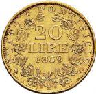 Photo numismatique  VENTE 7 juin 2017 - Coll Fr. Beau et divers MONNAIES DU MONDE ITALIE SAINT-SIEGE, Pie IX (1846-1878) 544- 20 lire, Rome 1869.